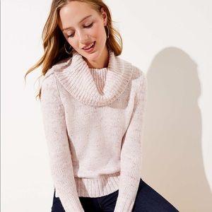 Loft Pink Multi Turtleneck Sweater, NWT Small